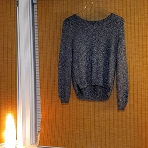 Divided Black sparkly long sleeves top